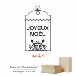 Tampon Noël - Etiquettes cadeaux