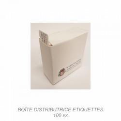 Etiquette en boite distributrice