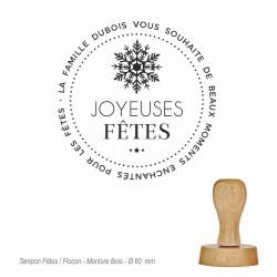 Tampon Joyeuses Fêtes-Flocon
