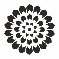 Pochoir Mandala pétale