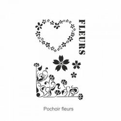 Pochoir  fleurs