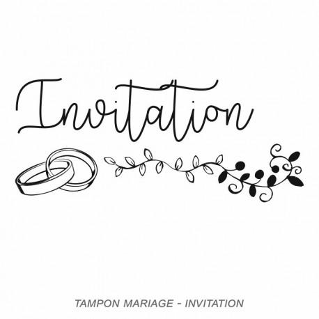 Tampon mariage  invitation