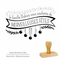 "Tampon  ""Merveilleuses Fêtes"""