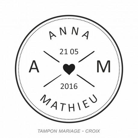 Tampon mariage croix