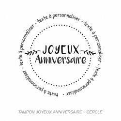 Tampon Anniversaire - cercle