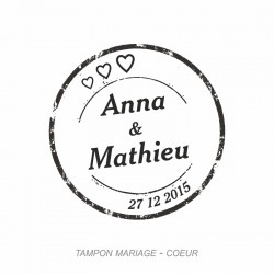 Tampon mariage Coeur