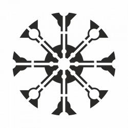 Pochoir Mandala roue