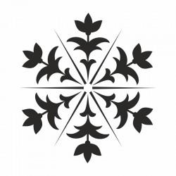 Pochoir Mandala Florale