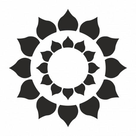Pochoir Mandala Tournesol