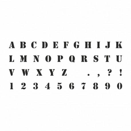 Pochoir Alphabet Stencil