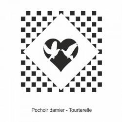 Pochoir damier - Tourterelle