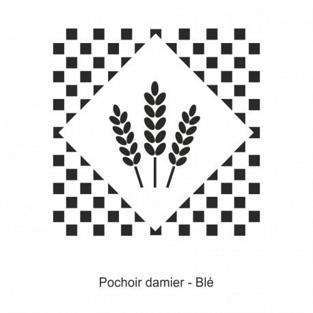 Pochoir damier - Brin de Blé