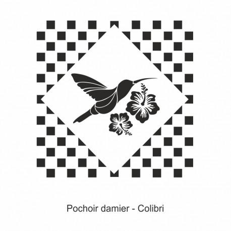 Pochoir damier - Colibri