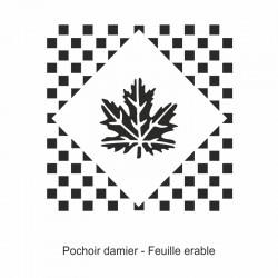 Pochoir damier - Feuille Erable