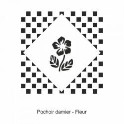 Pochoir damier - Fleurs