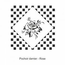 Pochoir damier - Rose