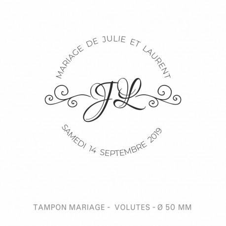 Tampon mariage Volutes