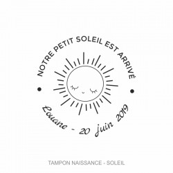 "Tampon naissance ""Soleil"""