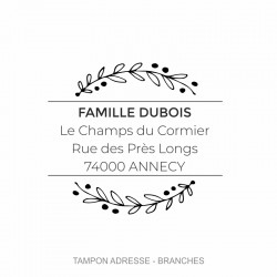 "Tampon adresse ""Branches"""