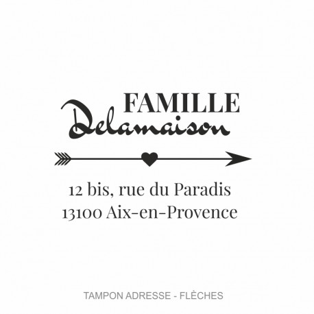 "Tampon adresse ""Flèche"""