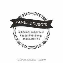 Tampon adresse Ruban