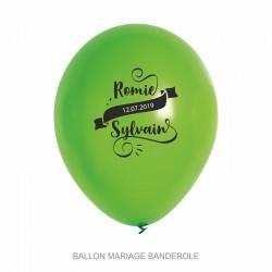 Ballons personnalisés - Mariage Banderole