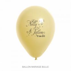 Ballons personnalisés - Mariage Bulle