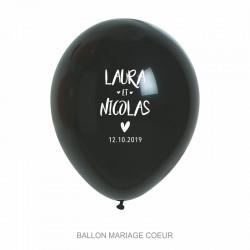 Ballons personnalisés - Mariage Coeur