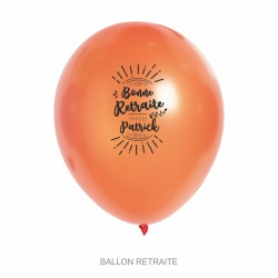 Ballons personnalisés - Retraite