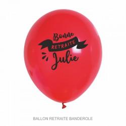 Ballons personnalisés - Retraite Banderole