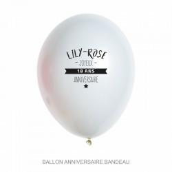 Ballons personnalisés - Anniversaire banderole