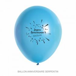 Ballons personnalisés - Anniversaire serpentin