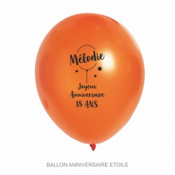 Ballons personnalisés - Anniversaire étoile