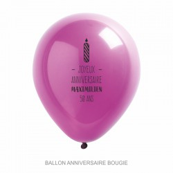 Ballons personnalisés - Anniversaire bougie