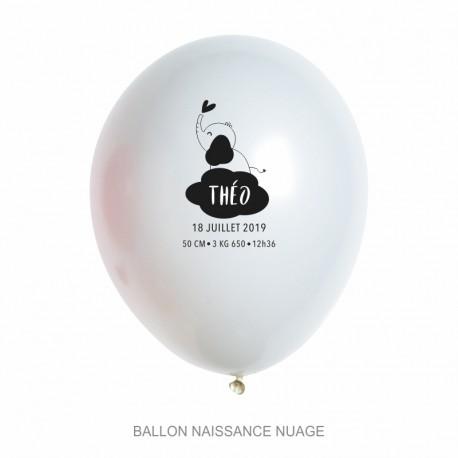 Ballons personnalisés - Naissance nuage