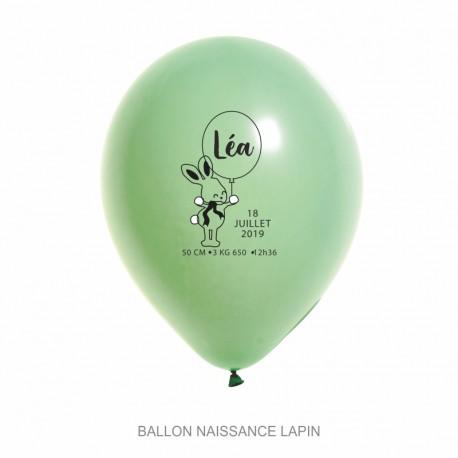 Ballons personnalisés - Naissance Lapin