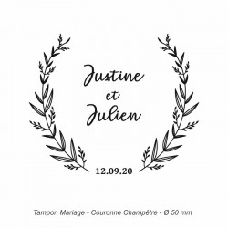 "Tampon mariage ""Couronne Champêtre"""