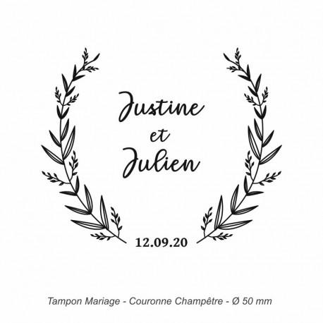 "Tampon mariage ""Couronne Champêtre"""