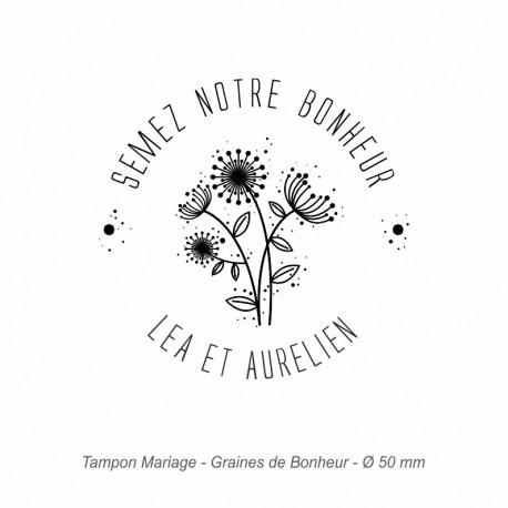 """Tampon mariage """"Graines de Bonheur"""""""