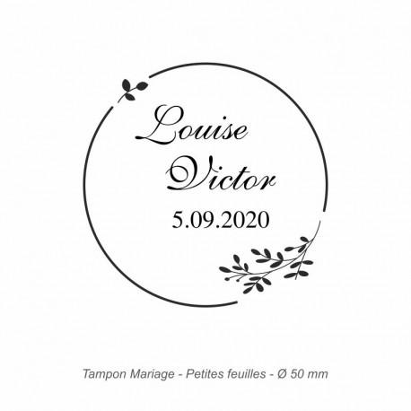 "Tampon mariage ""Petites feuilles"""