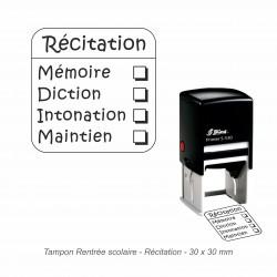 Tampon automatique Récitation
