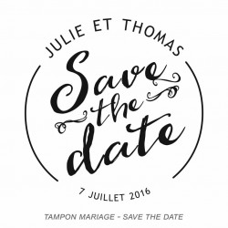 Tampon mariage save de date