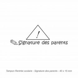 Tampon automatique Signature des parents