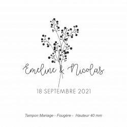 "Tampon mariage ""Fougère"""
