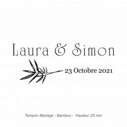 """Tampon mariage """"Bambou"""""""