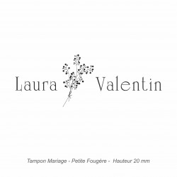 "Tampon mariage ""Petite Fougère"""