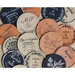 Etiquettes simili cuir