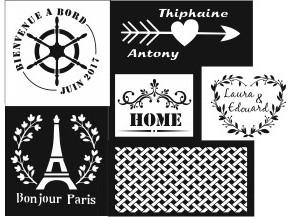 Pochoir  /  Stencil personnalisables